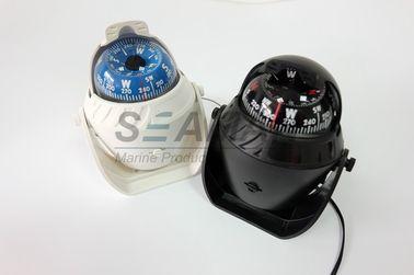 Nhựa Marine hải thuyền Compass Với đèn LED màu trắng / đen