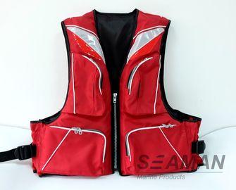 Thời trang Durable 4 túi Nylon 420D Polyester PVC Foam Adult cá sống Jacket 100N
